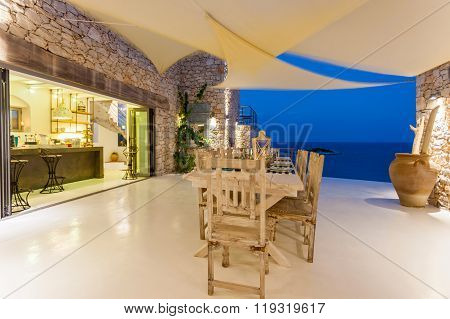 Dinning Area In A Resort