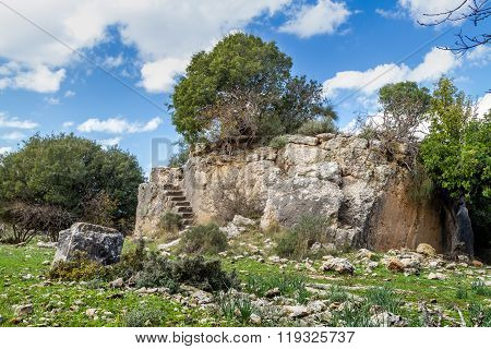 Montfort Castle in Upper Galilee, Israel