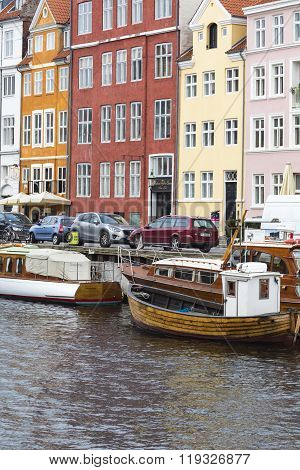 Copenhagen - September 07: Yachts In Nyhavn On September 07, 2014 In Copenhagen, Denmark. Nyhavn - F
