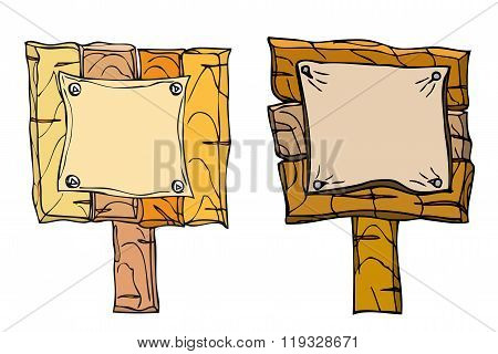 Set Of Wooden Signposts