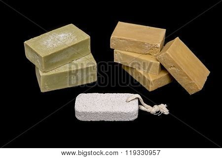 Homemade Soaps And Pumice Stone