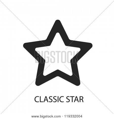 classic star icon, classic star logo, classic star icon vector, classic star illustration, classic star symbol