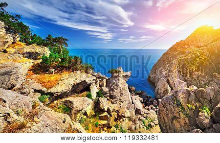 Beautiful Seascape. Majestic Landscape