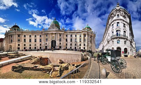Majestic Panorama At Hofburg Palace