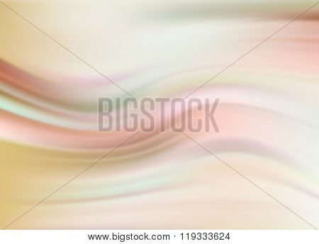 Abstract Modern Wavy Flowing Silk, Satin Background. Vector Elegant Smooth Wave