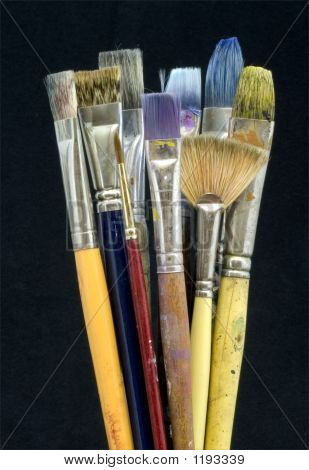A Few Artist Paint Brushes