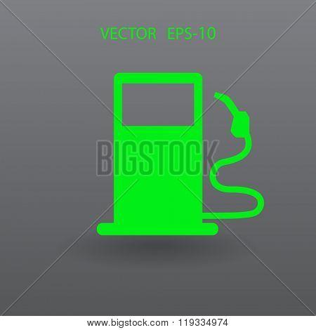 Flat fuel icon. Vector