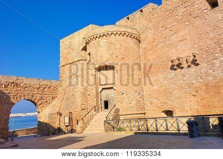 Castle of Monopoli. Puglia. Italy.