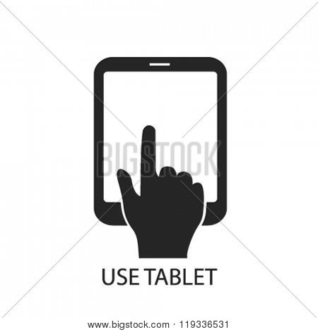 use tablet icon, use tablet logo, use tablet icon vector, use tablet illustration, use tablet symbol, use tablet isolated, use tablet image, use tablet drawing, use tablet concept
