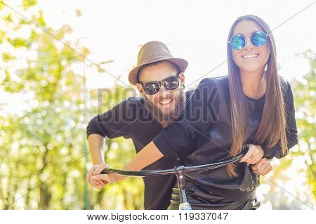 Happy Hipster Couple