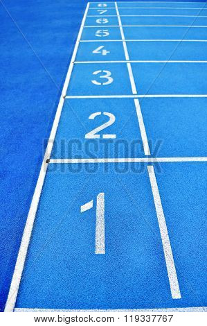 Sprint Finish Line Positions