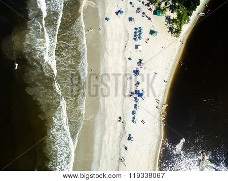 Aerial View of Barra do Una, Sao Paulo, Brazil