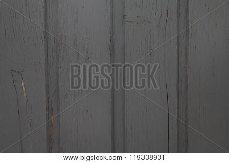 Wooden Boards Covered In Grey Paint