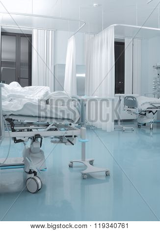 Chamber Of Infectious Patient In Hospital