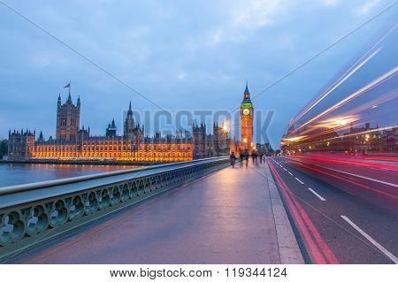 Traffic through London