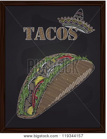 Tacos With Salad Tomato Onion Cheese Corn Beef