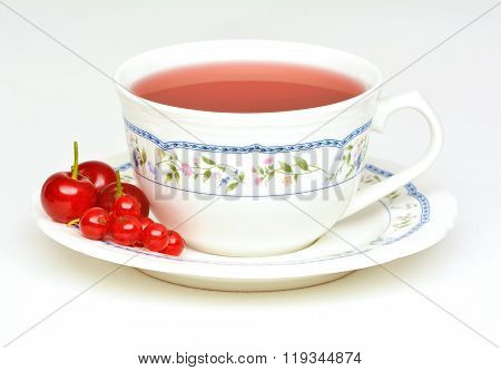 Fruit Tea With Sour Cherries And Red Currant