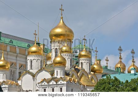 Orthodox Cathedral In The Moscow Kremlin.