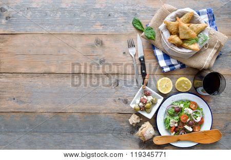 Greek Food Background