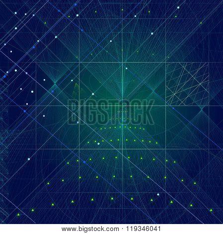 Sacred Geometry Symbols And Elements Background