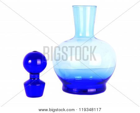 Blue Decanter