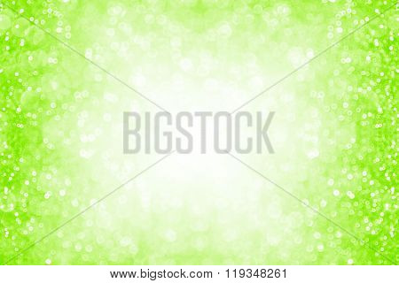 Neon Green Glitter Sparkle Background