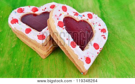 Heart Cookies On The Green.