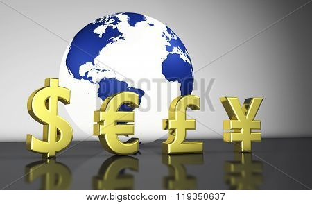 Currency Exchange Symbols World Economy Concept