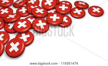 Switzerland Flag On Badges
