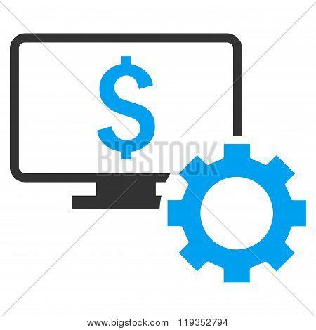 Financial Monitoring Options Flat Vector Icon