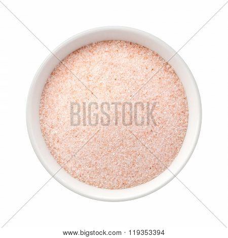 Fine Himalayan Pink Salt In A Ceramic Bowl