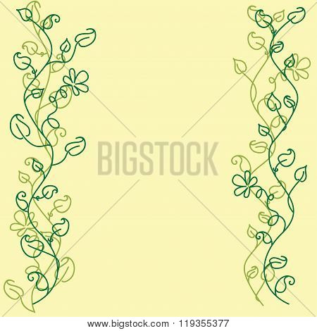 Card with two leafy borders.