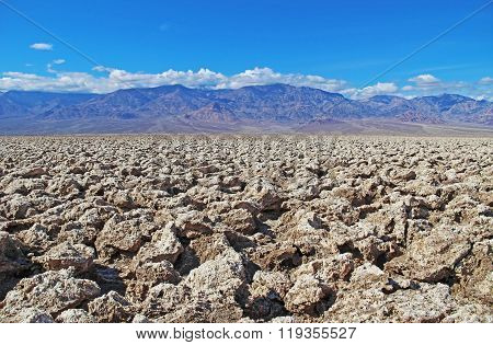 Devil's Golf Course In The Badwater Basin. Usa.
