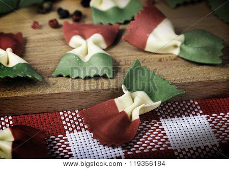 Italian pasta Farfalle