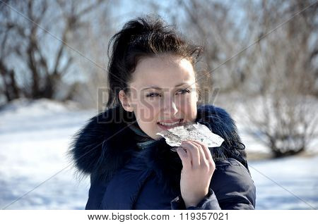 Girl Eating Ice