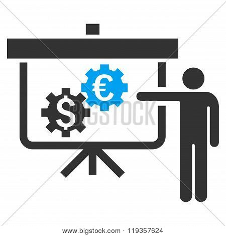 International Banking Project Flat Glyph Icon