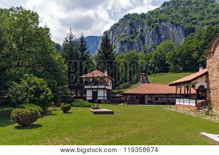 Amazing view of Poganovo Monastery of St. John the Theologian and Erma River Gorge,