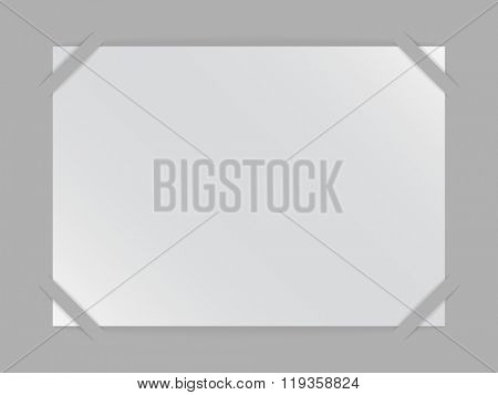 Blank album horizontal page vector template.