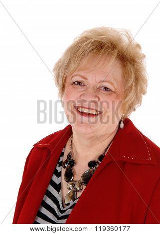 Closeup Of Smiling Senior Woman.