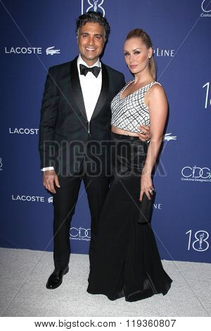 LOS ANGELES - FEB 23:  Jaime Camil, Heidi Balvanera at the 18th Costume Designers Guild Awards at the Beverly Hilton Hotel on February 23, 2016 in Beverly Hills, CA