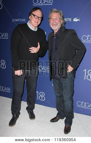 LOS ANGELES - FEB 23:  Quentin Tarantino, Kurt Russell at the 18th Costume Designers Guild Awards at the Beverly Hilton Hotel on February 23, 2016 in Beverly Hills, CA
