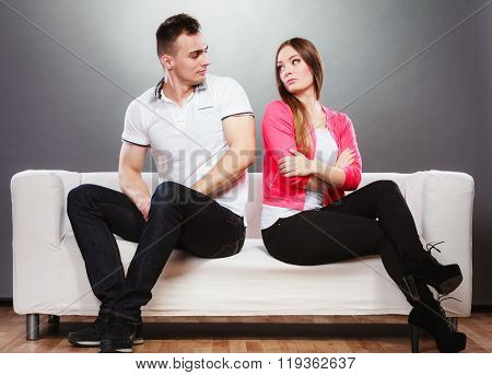 Unhappy Couple Not Talking. Disagreement