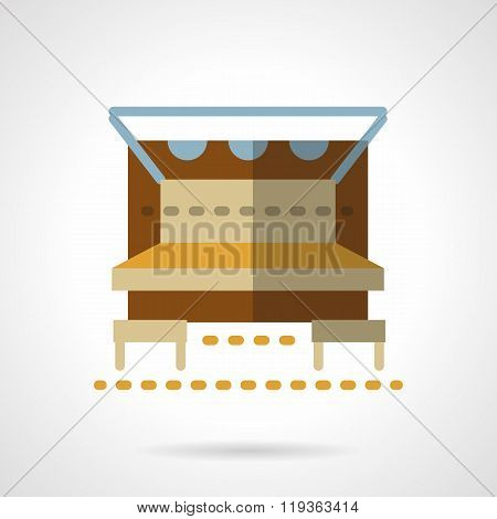 Outdoors cafe-bar flat color design vector icon