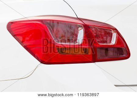 Car Tail Light On A Sedan