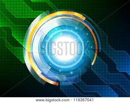Hi-tech Background Design. Abstract Technology Background. Vector Illustration