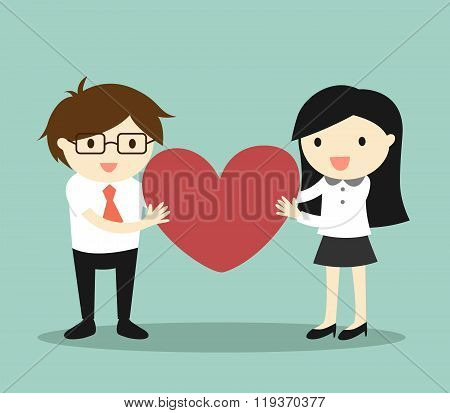 Business concept, Love in office.