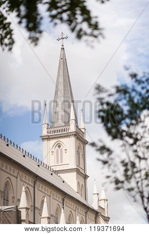 External View Of Historical Chapel Chijmes