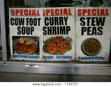 Signs For Daily Specials In Restaurant Window