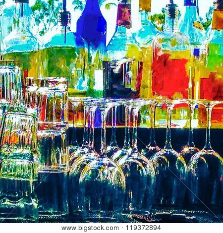 Artistic Abstract Bar Image