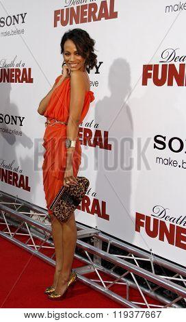 Zoe Saldana at the World Premiere of